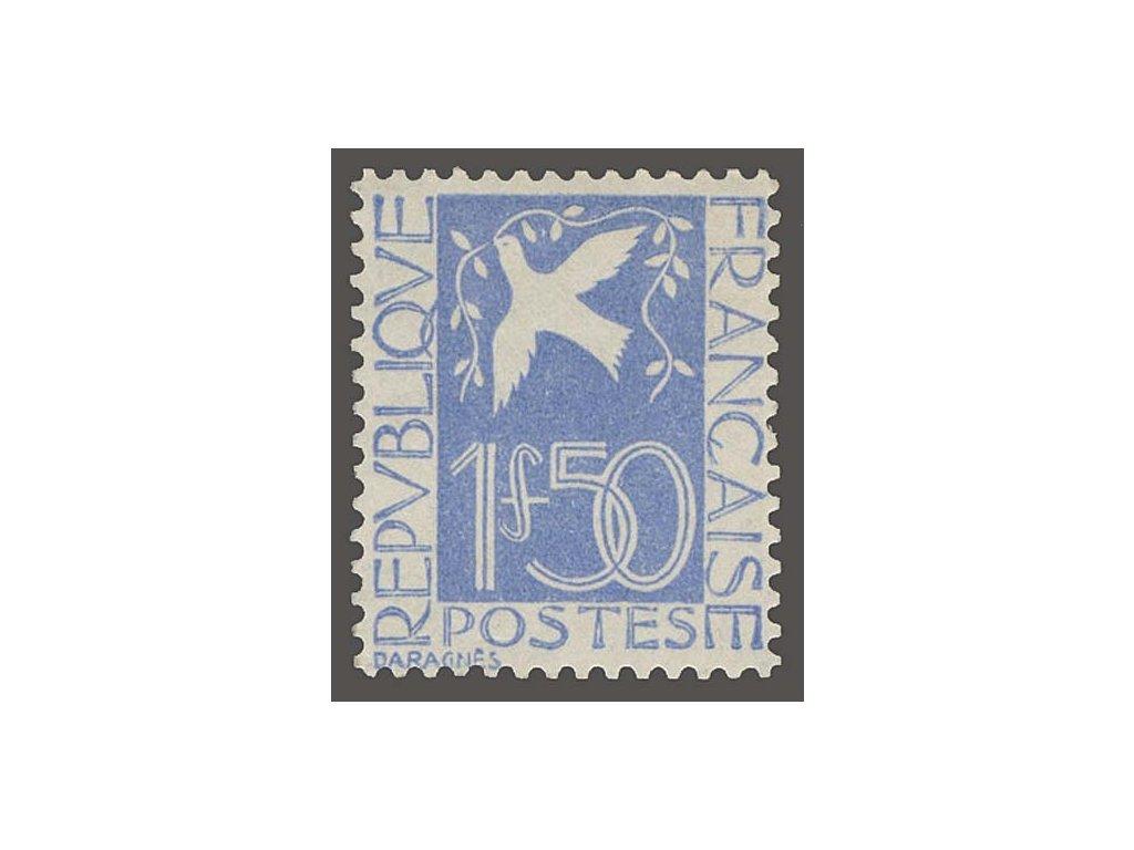 1934, 1.50Fr Holubice, MiNr.291, * po nálepce