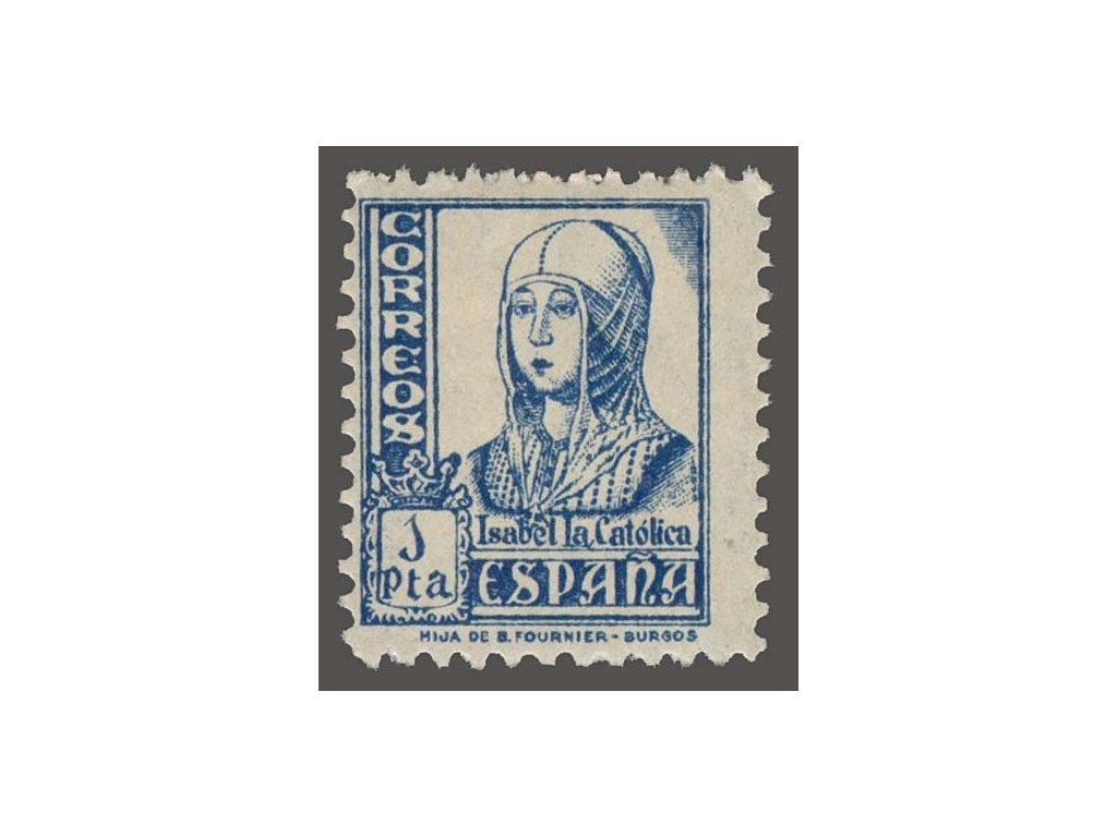 1938, 1Pta Isabella, MiNr.816, * po nálepce