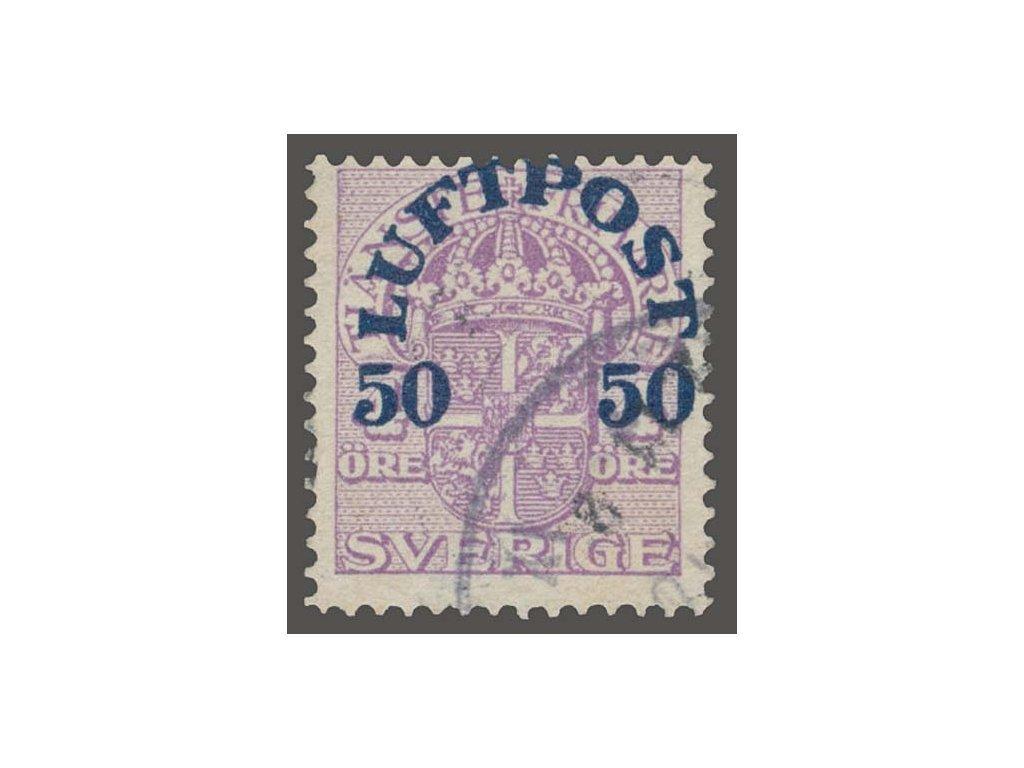 1920, 50Ö letecká, MiNr.140, razítkované
