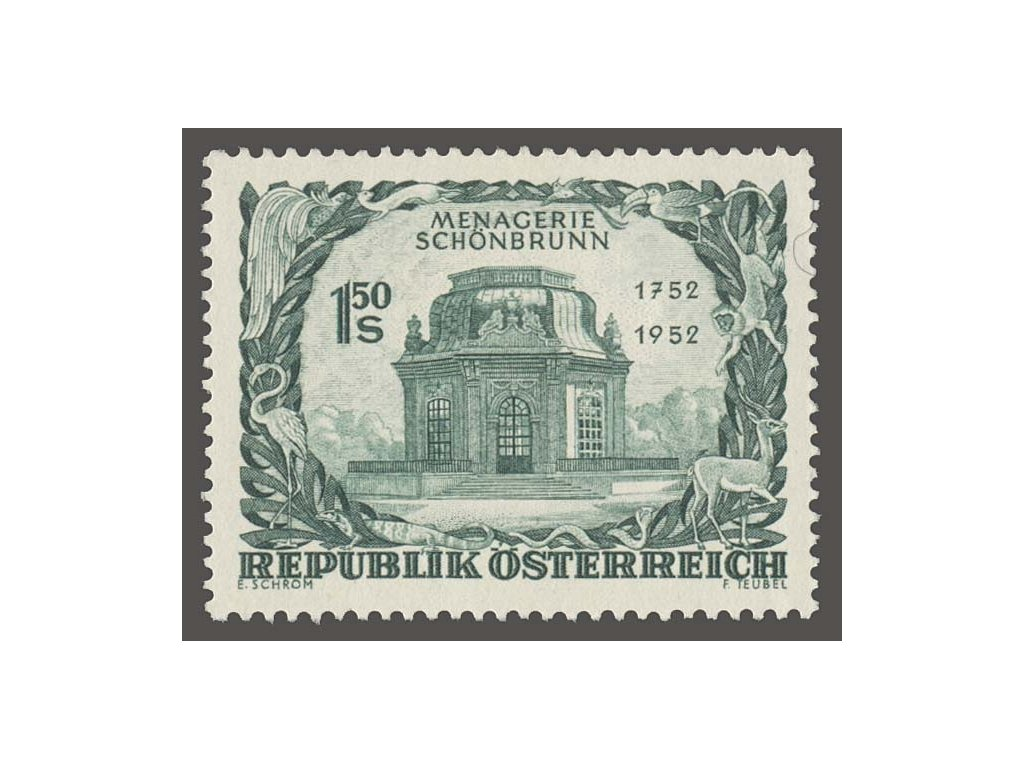 1952, 1.50S Schönbrunn, MiNr.973, **