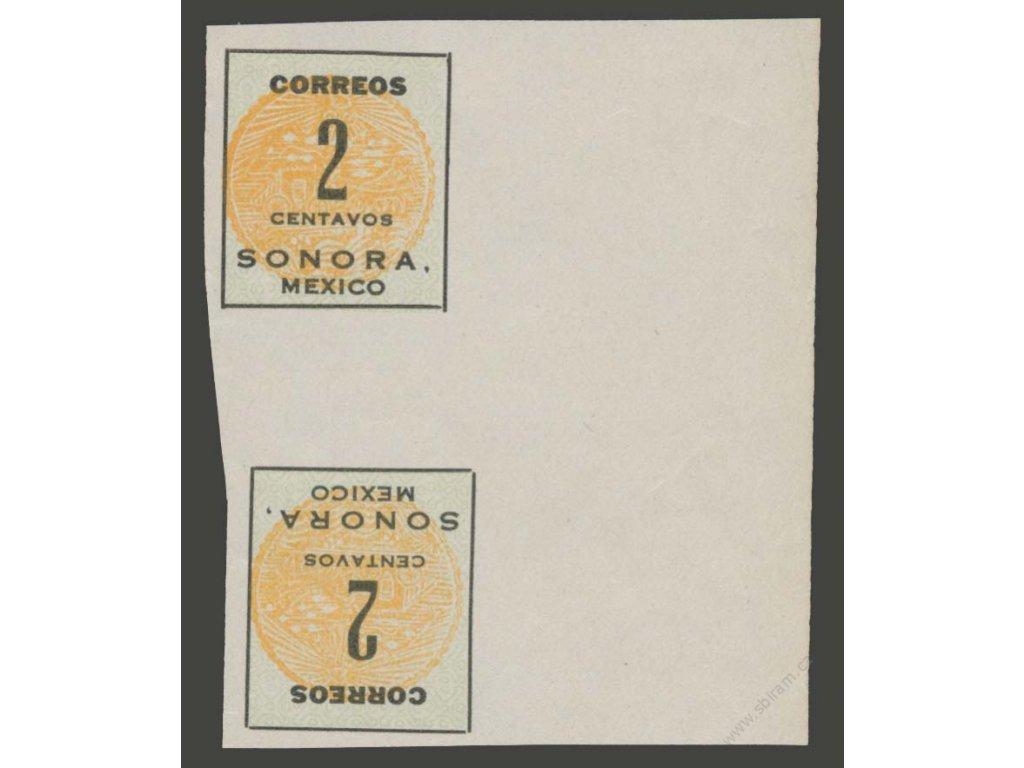 Mexiko, Sonora, 1914, 2C meziarší, MiNr.311, (*)