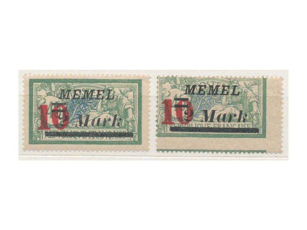 Memelgebiet, 1923, 10/2M/45C Merson, posun obrazu, *