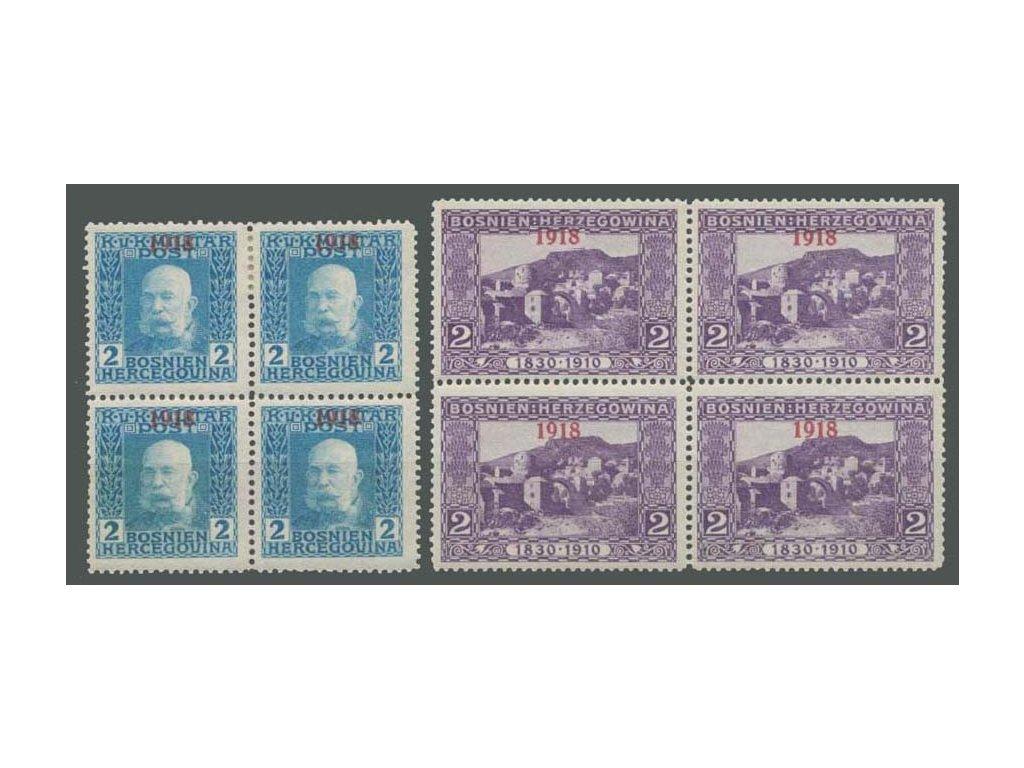 1918, 2H série Krajinky, 4bloky, MiNr.147-48, **/*
