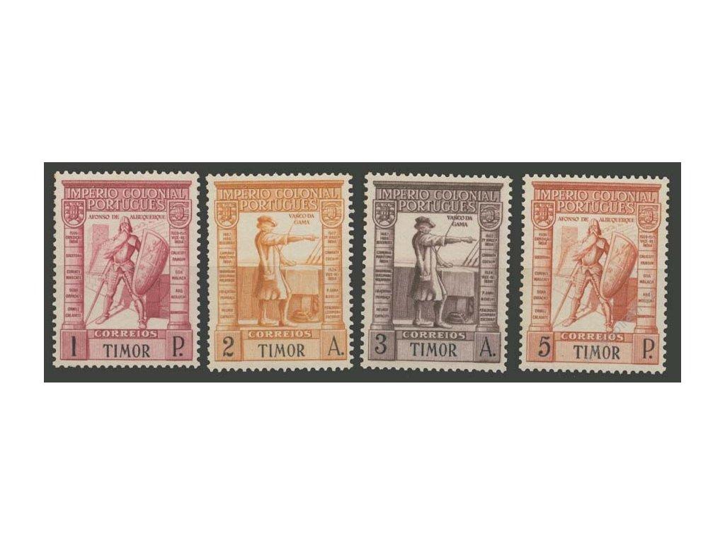 Timor, 1938, 1-P koncové hodnoty série, MiNr.244-47, **