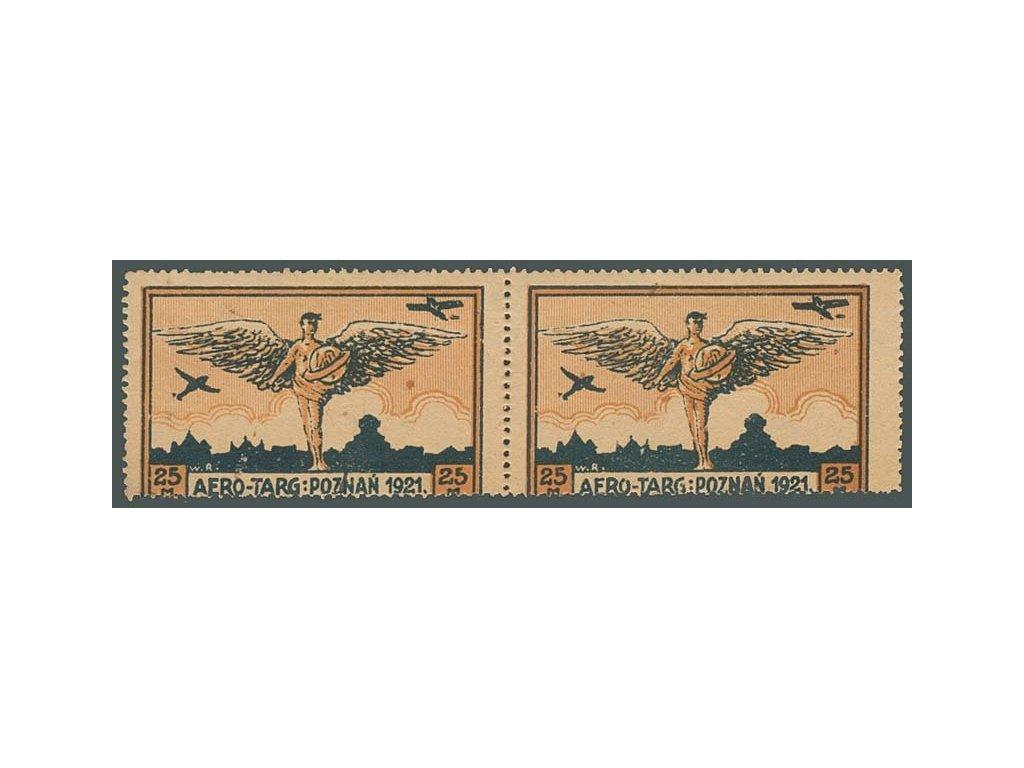 1921, 25M letecká, 2páska, MiNr.I, **/*