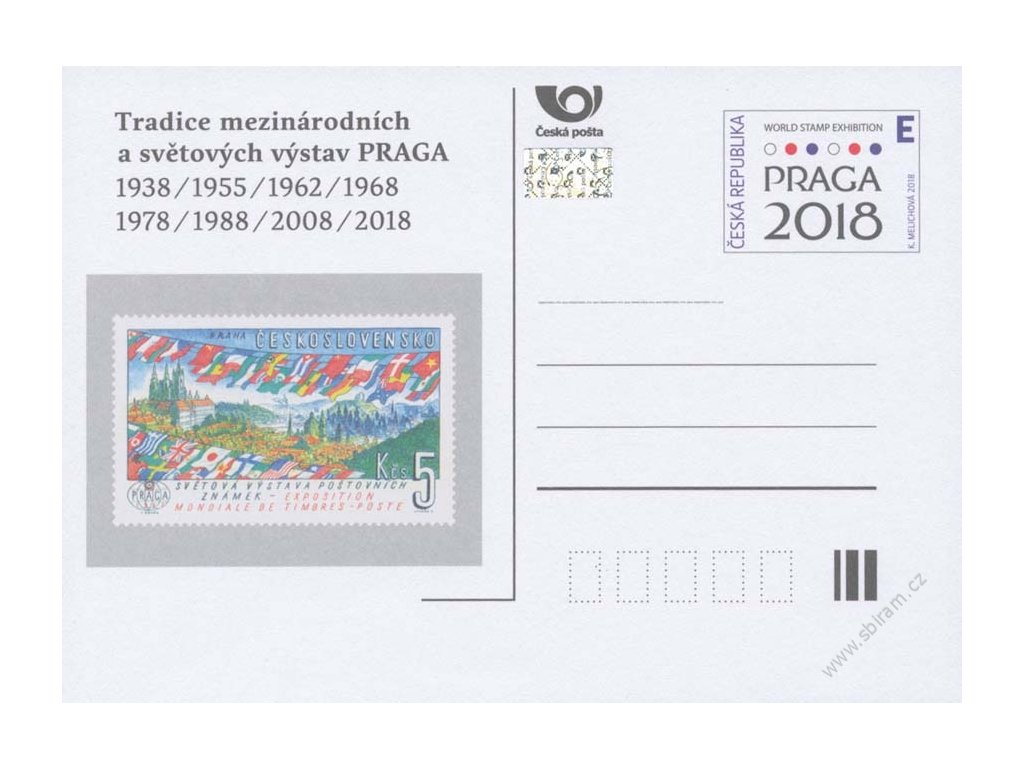 """CDV 182 Historie výstav Praga """"E"""""""
