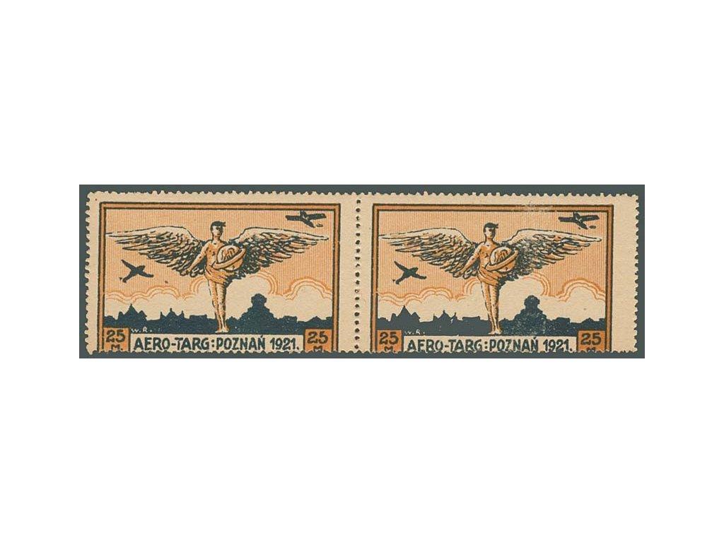 1921, 25M letecká, 2páska, MiNr.I, * po nálepce
