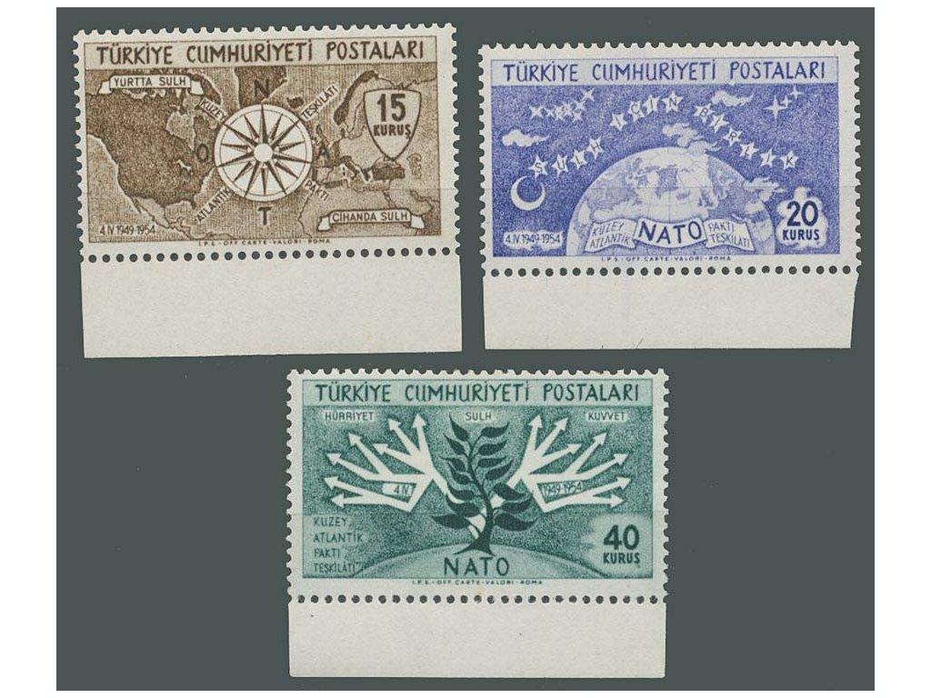 1954, 15-40K série NATO, MiNr.1388-90, **