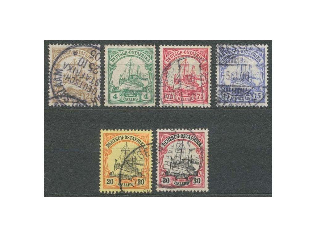 Deutsch-Ostafrika, 1905, 3-30Pf Lodičky, razítkované