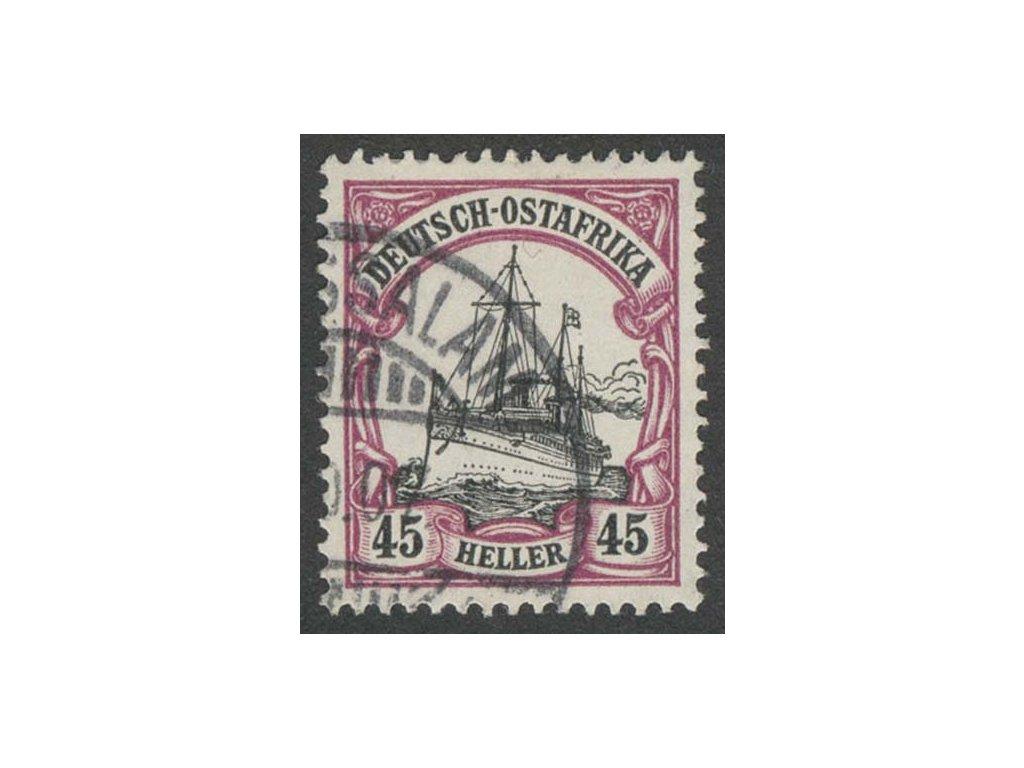 Deutsch-Ostafrika, 1905, 45H Lodička, razítkované