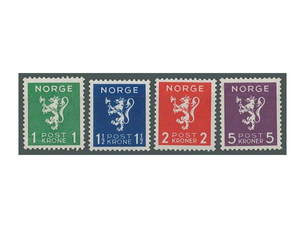 1940, 1-5Kr série Znaky, MiNr.207-10, **