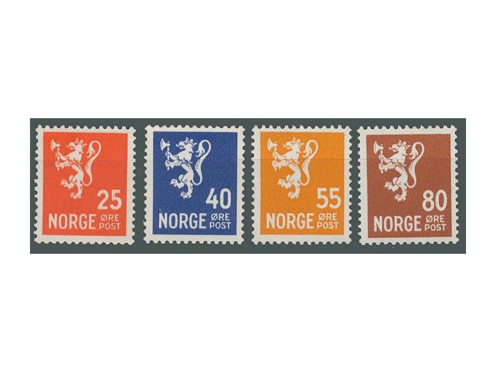 1946, 25-80Q série Znaky, MiNr.319-22, **