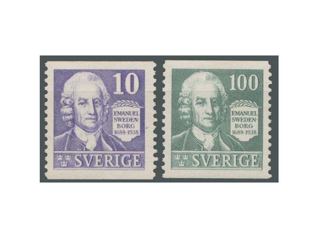 1938, 10-100Ö série Swedenborg, MiNr.243-44A, **