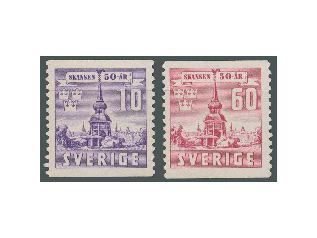 1941, 10-80Ö série Skansen, MiNr.283-84A, **