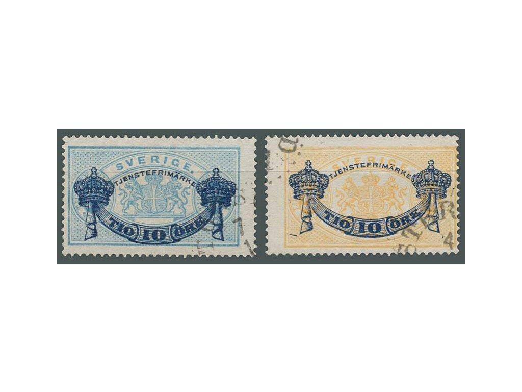 1889, 10Ö/12Ö-10Ö/24Ö služební série, razítkované