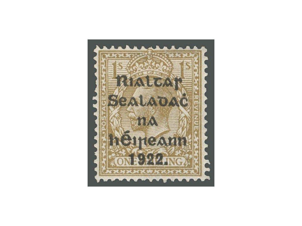 Irsko, 1922, 1Sc Jiří V., MiNr.23, * po nálepce, drobný vlom