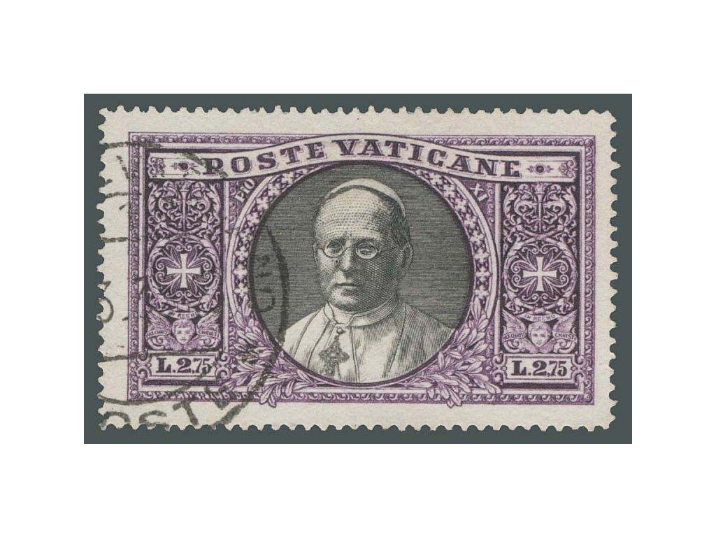 1933, 2.75L Papež, MiNr.33, razítkované