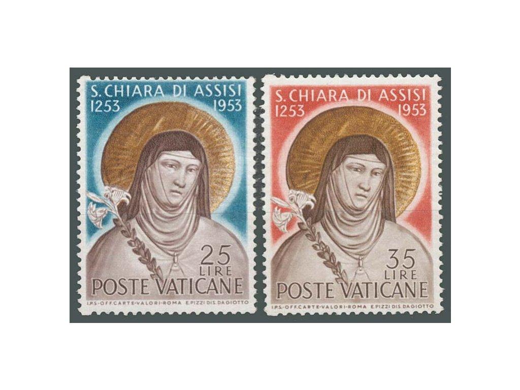 1953, 25-35L série sv. Klára, MiNr.207-8, **