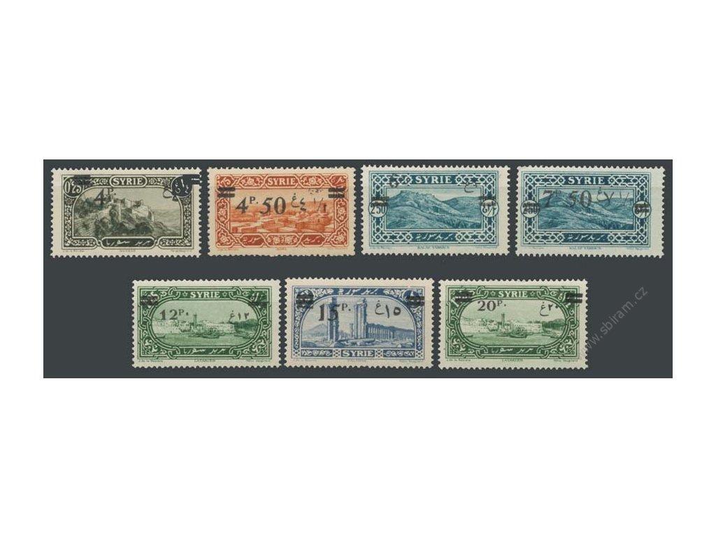 Sýrie, 1926, 4P/0.25P-20P/1.25P série bez 2 hodnot, ** , dv