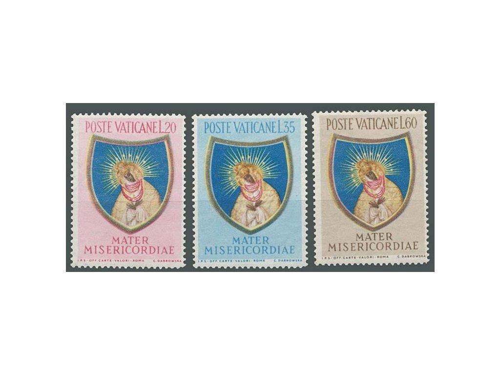 1954, 20-60L série sv. Marie, MiNr.227-29, **