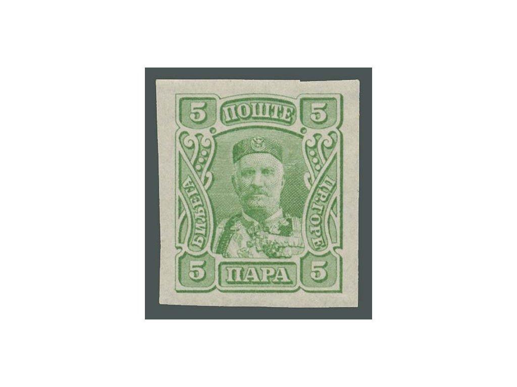 1907, 5Pa Nikola, nezoubkovaná, MiNr.63U, nepatrná *