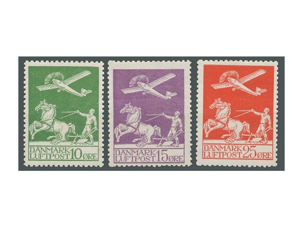 1925, 10-25Q letecká série, MiNr.143-45, */**