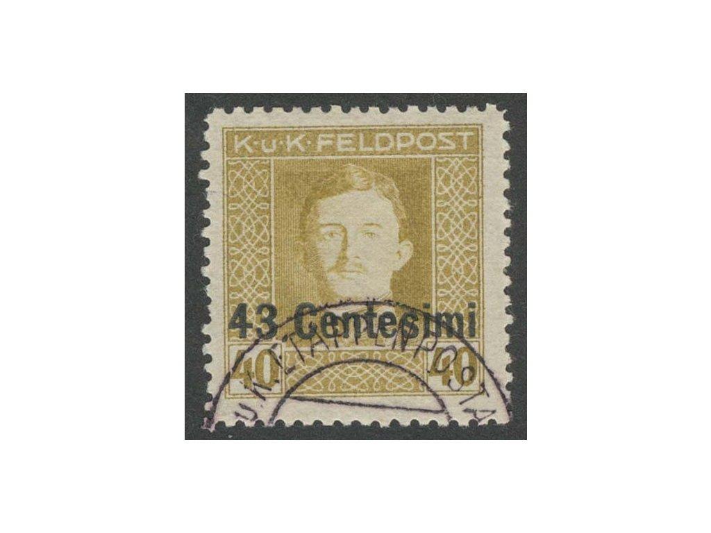 Itálie, 1918, 43C/40H Karel, L 11 1/2, razítkované, kz