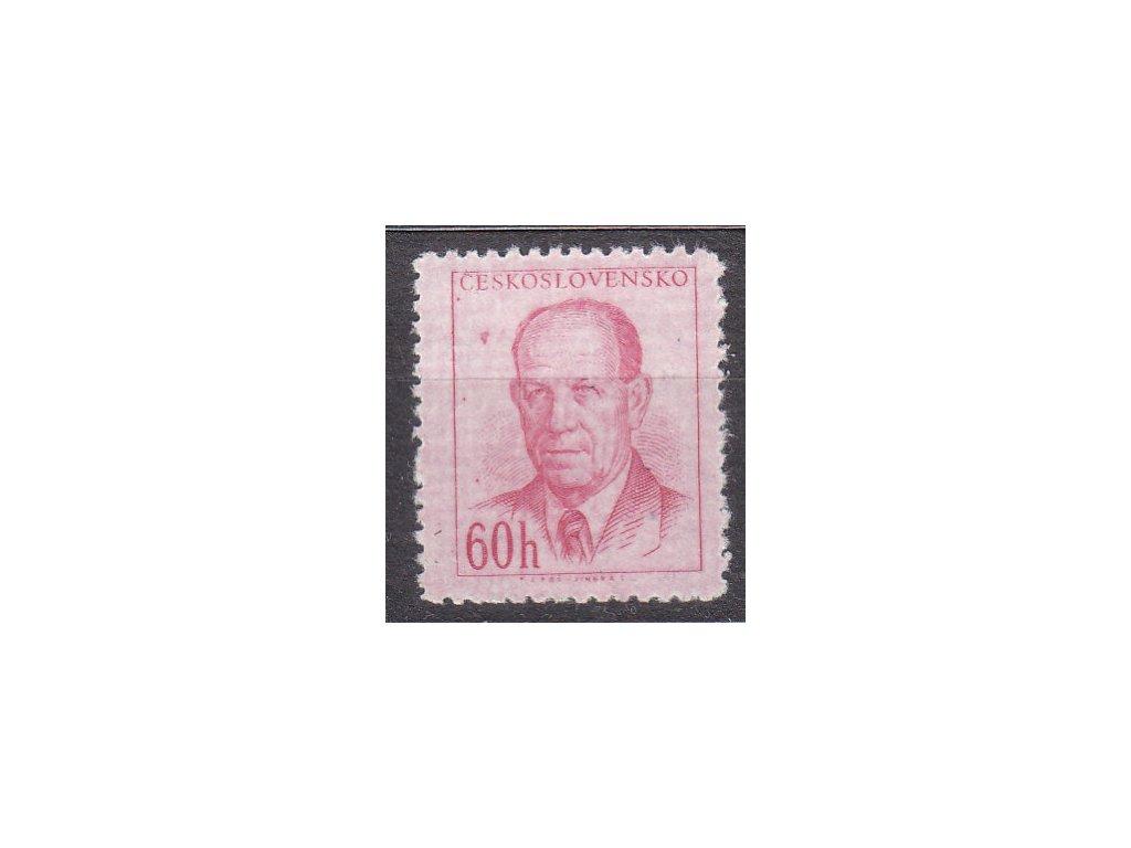 1953, 60h Zápotocký, DV - skvrna u hlavy, Nr.741, **