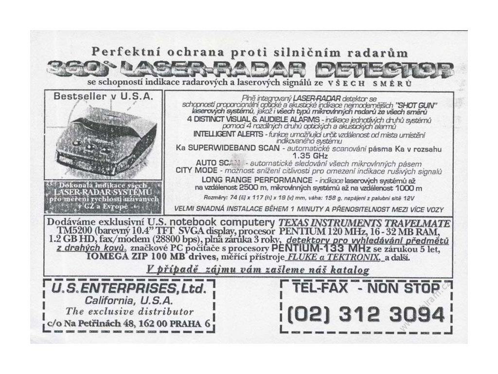 2006, U.S.Enterprises, Ltd., DR Praha, omačkaný růžek