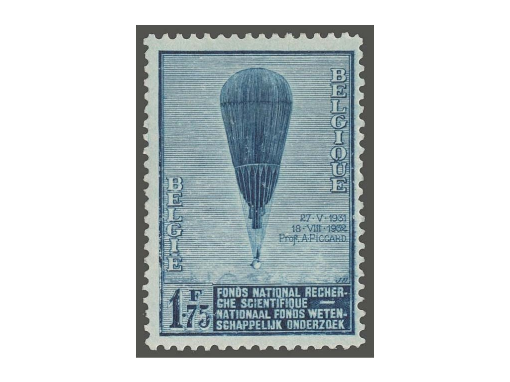 1932, 1.75Fr Balón, MiNr.345, * po nálepce