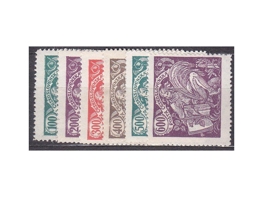 100-600h série, Nr.164-169, * po nálepce, ilustrační foto