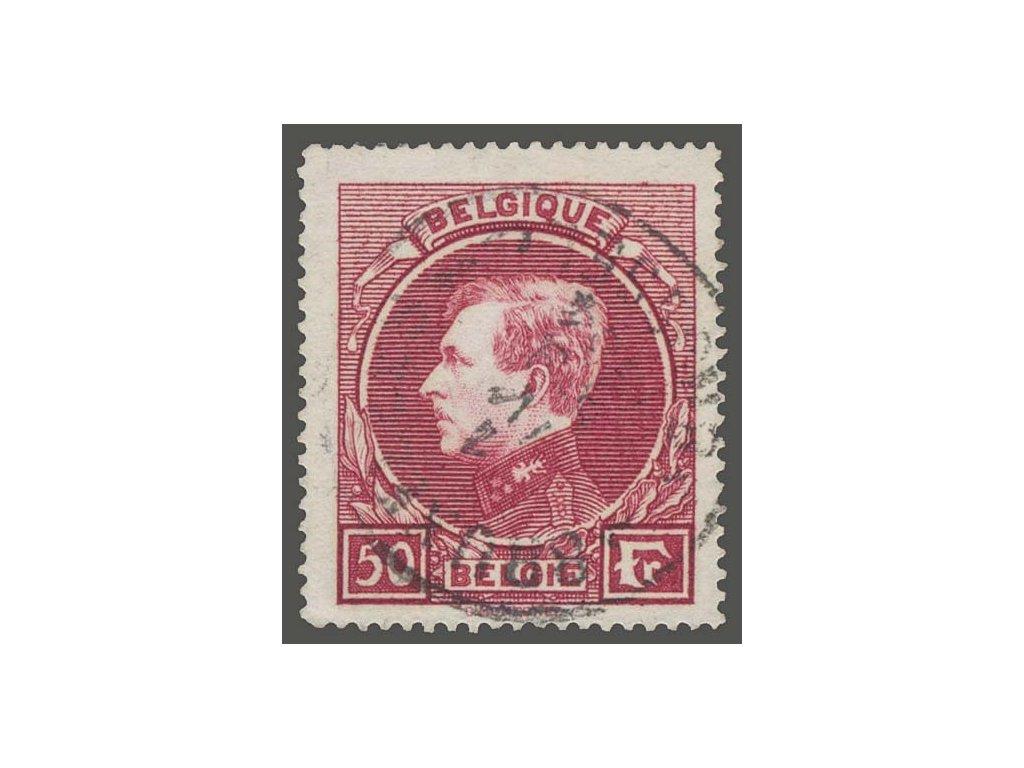 1929, 50Fr Albert, MiNr.264I, razítkované