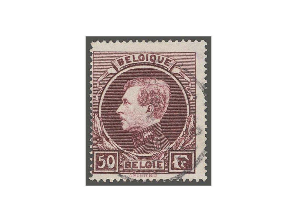 1929, 50Fr Albert, MiNr.264II, razítkované