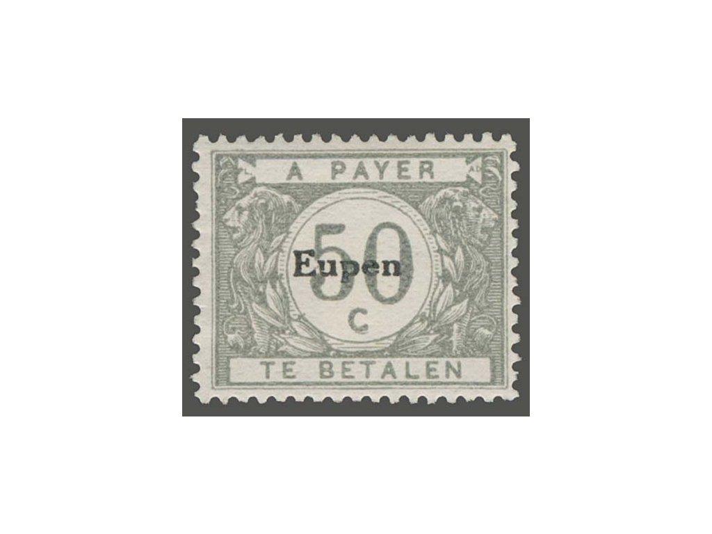 1920, 50C doplatní s přetiskem Eupen, těžší *