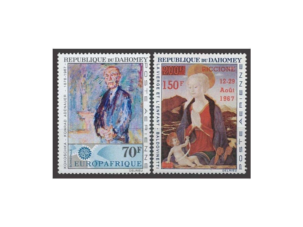 Dahomey, 1967, 70Fr a 150Fr/200Fr letecké, **