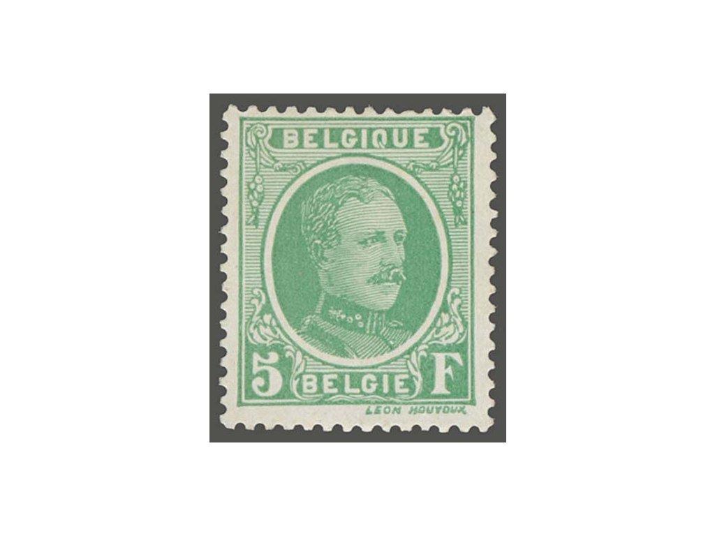 1926, 5Fr Albert, MiNr.216, * po nálepce, nepatrně zeslabeno