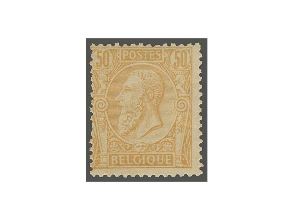 1884, 50C Leopold, MiNr.45, * po nálepce