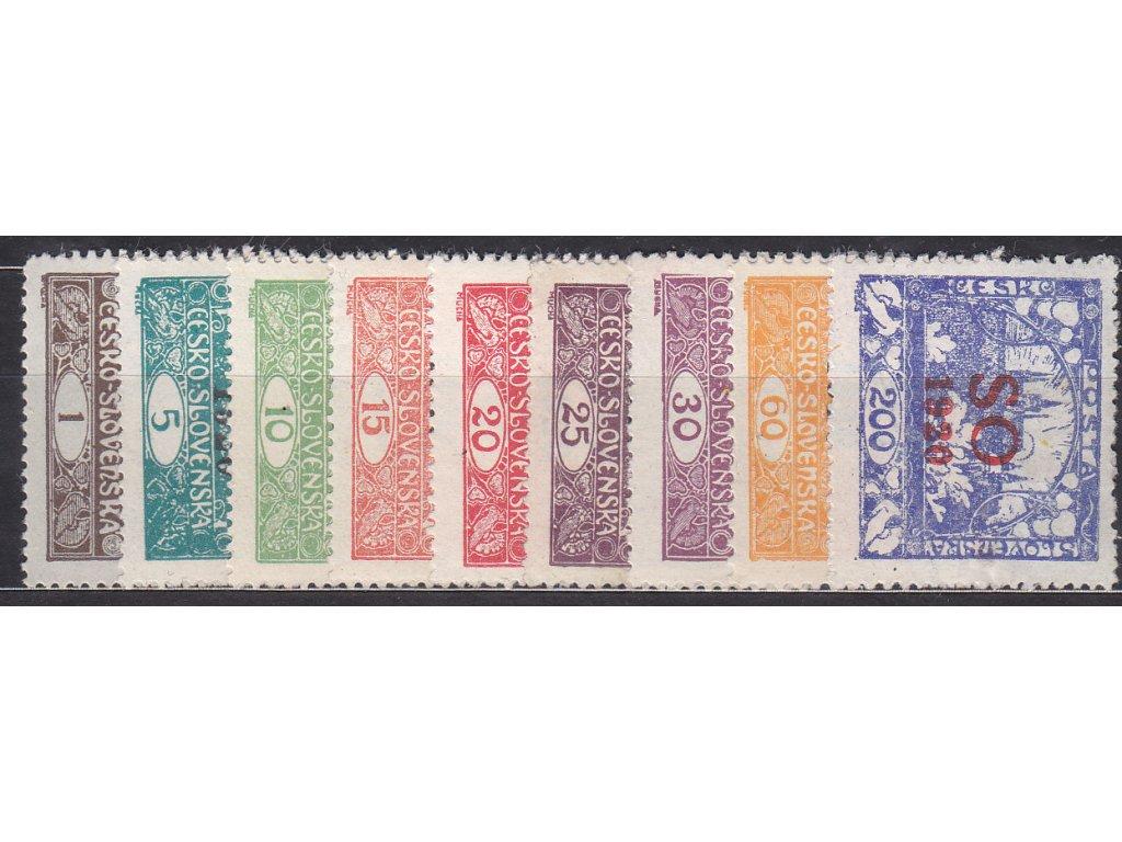 1-200h zoubkovaná série Hradčan, nejlevnější varianty, Nr.SO1-19, * po nálepce, ilustrační foto