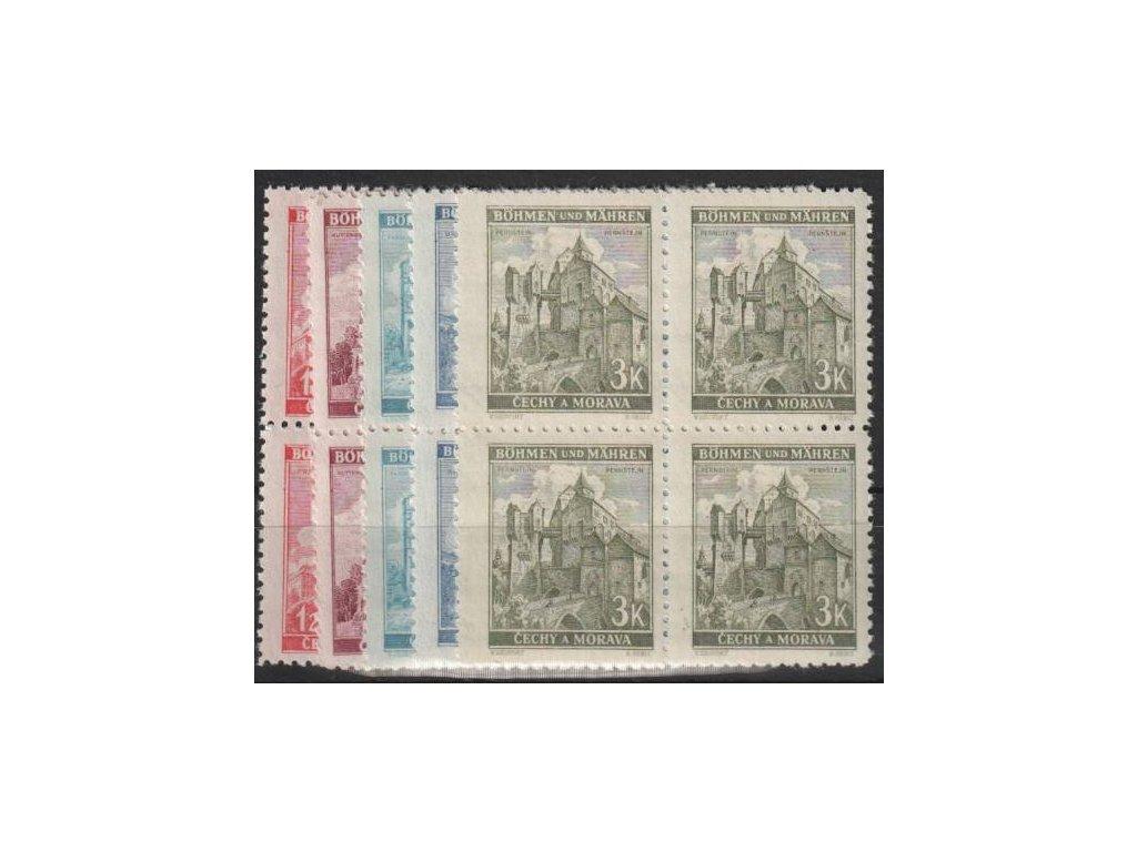 1941, 1.20-3K Krajinky III, série, 4bloky, Nr.57-61, **