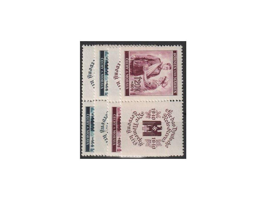 1940, 60h-1.20K ČK I, série, L+P kupony, Nr.50-1, **