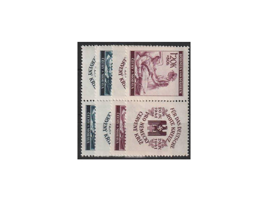 60h-1.20K Červený kříž II, L+P kupon, Nr.52-3, **