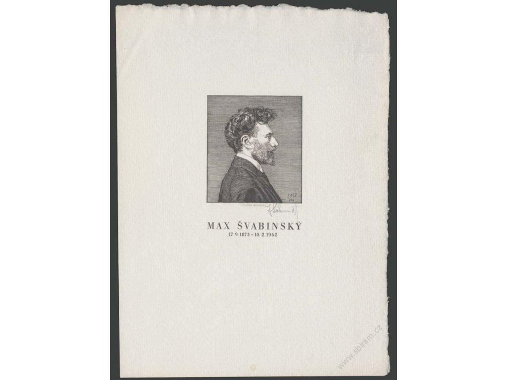 Schmidt, 1962, podepsaná rytina od Maxe Švabinského