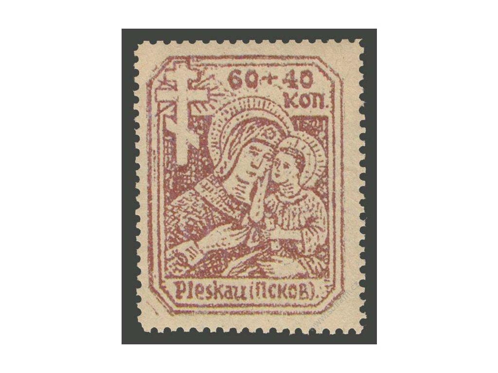Pleskau, 1941, 60 + 40K Madona, ** , novotisk, vlom