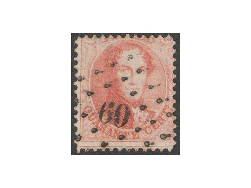 1863, 40C Leopold, MiNr.13A, razítkované