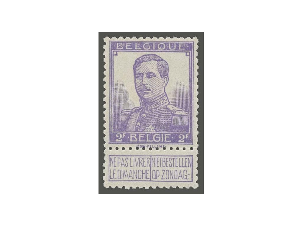 1912, 2Fr Albert, MiNr.98, * po nálepce
