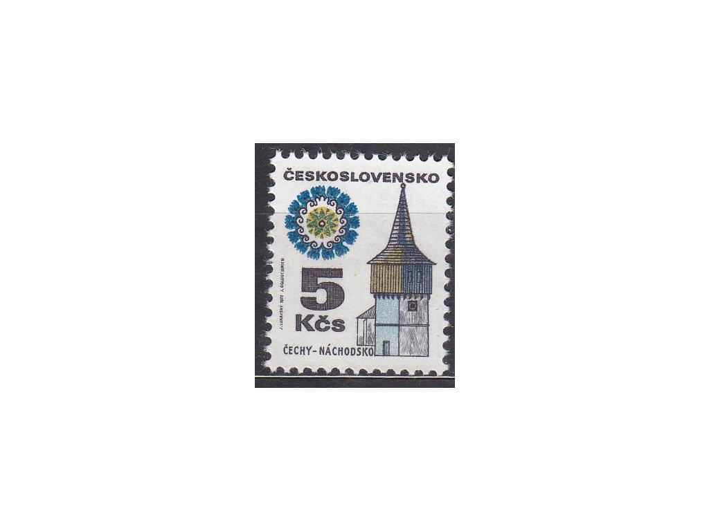 1972, 5Kčs Náchodsko, papír oz, Nr.1964xb, **