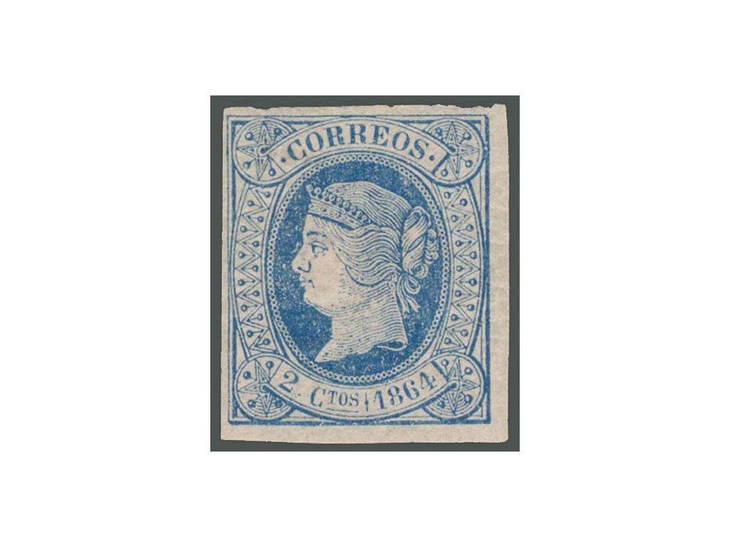 1864, 2C Isabella, MiNr.55, těžká *