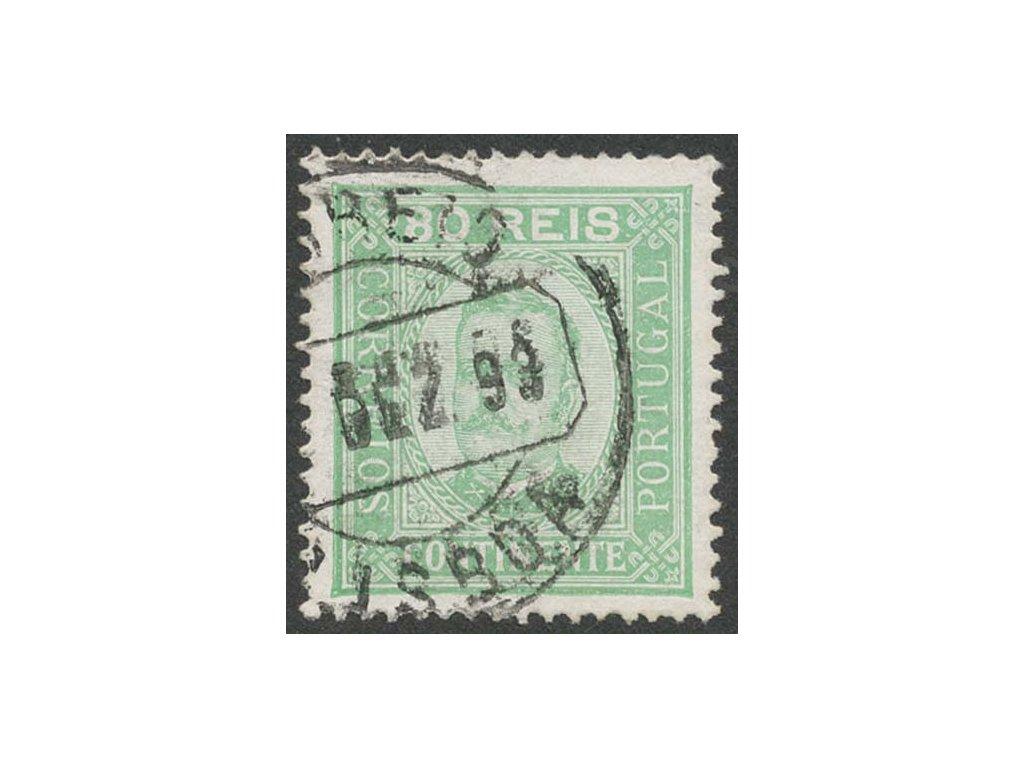 1892, 80R Carlos I., MiNr.73yC, razítkované