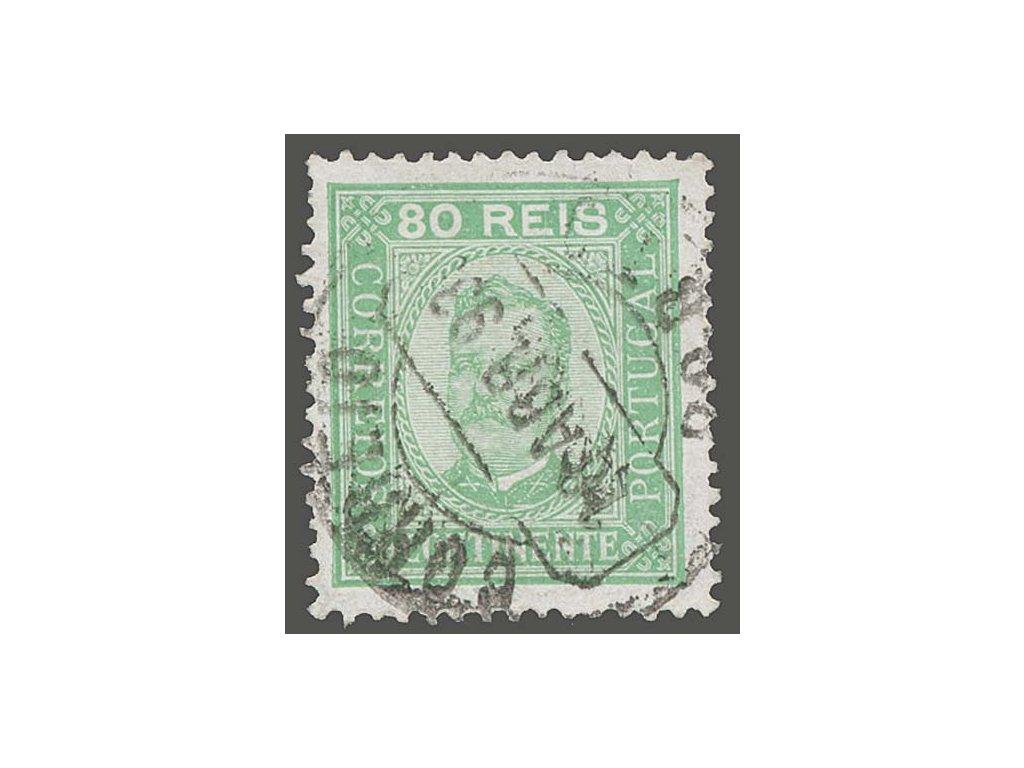 1892, 80R Carlos I., MiNr.73yB, razítkované
