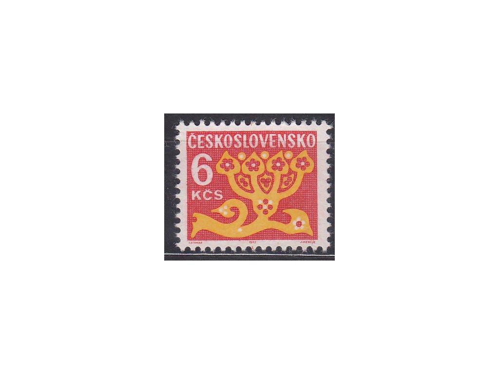 1971, 6Kčs Doplatní, papír oz, Nr.DL103, **
